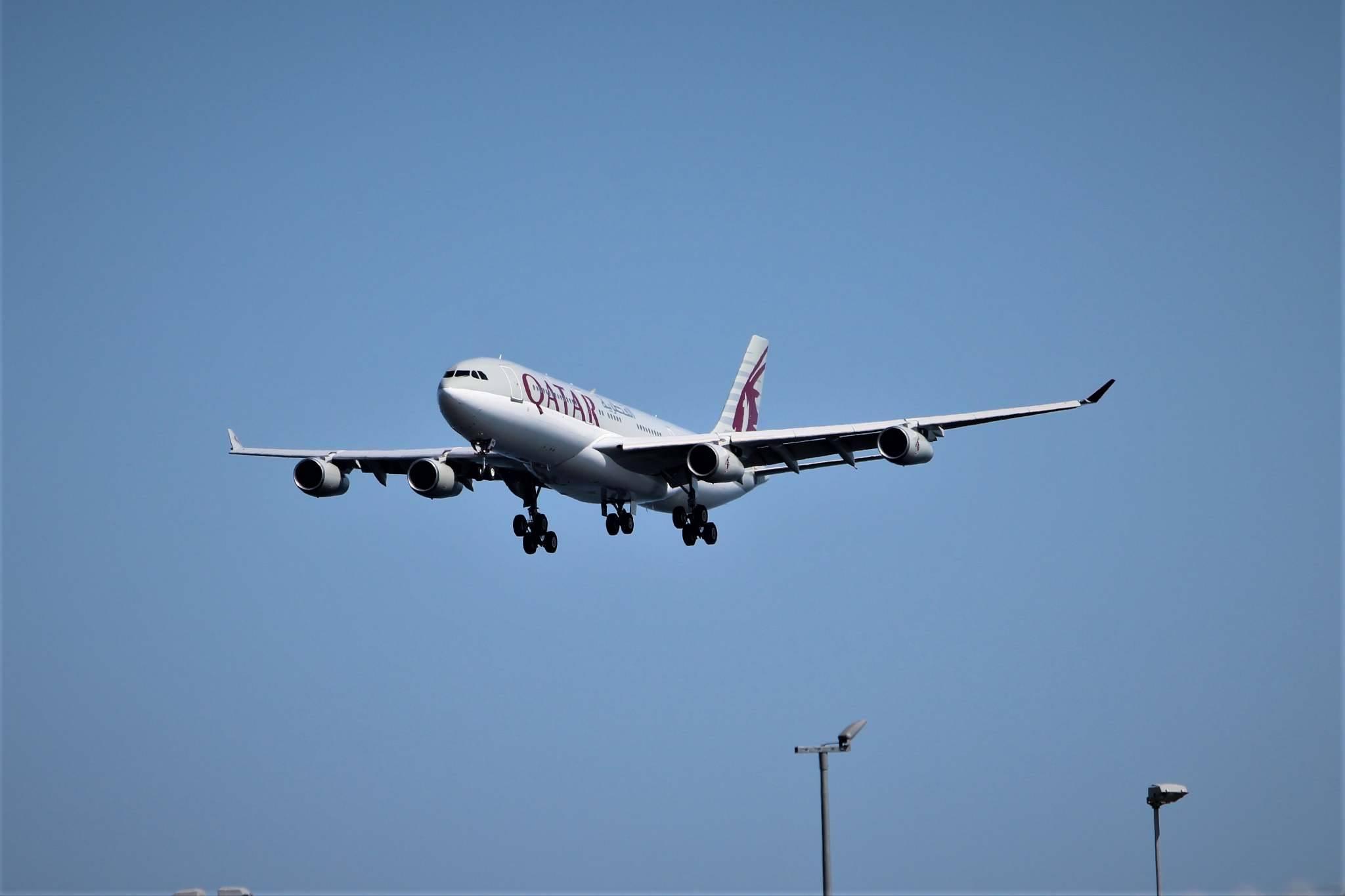 Airbus A340-200 fra Amiri Flight under landing i CPH. (Foto: Lasse Jensen)