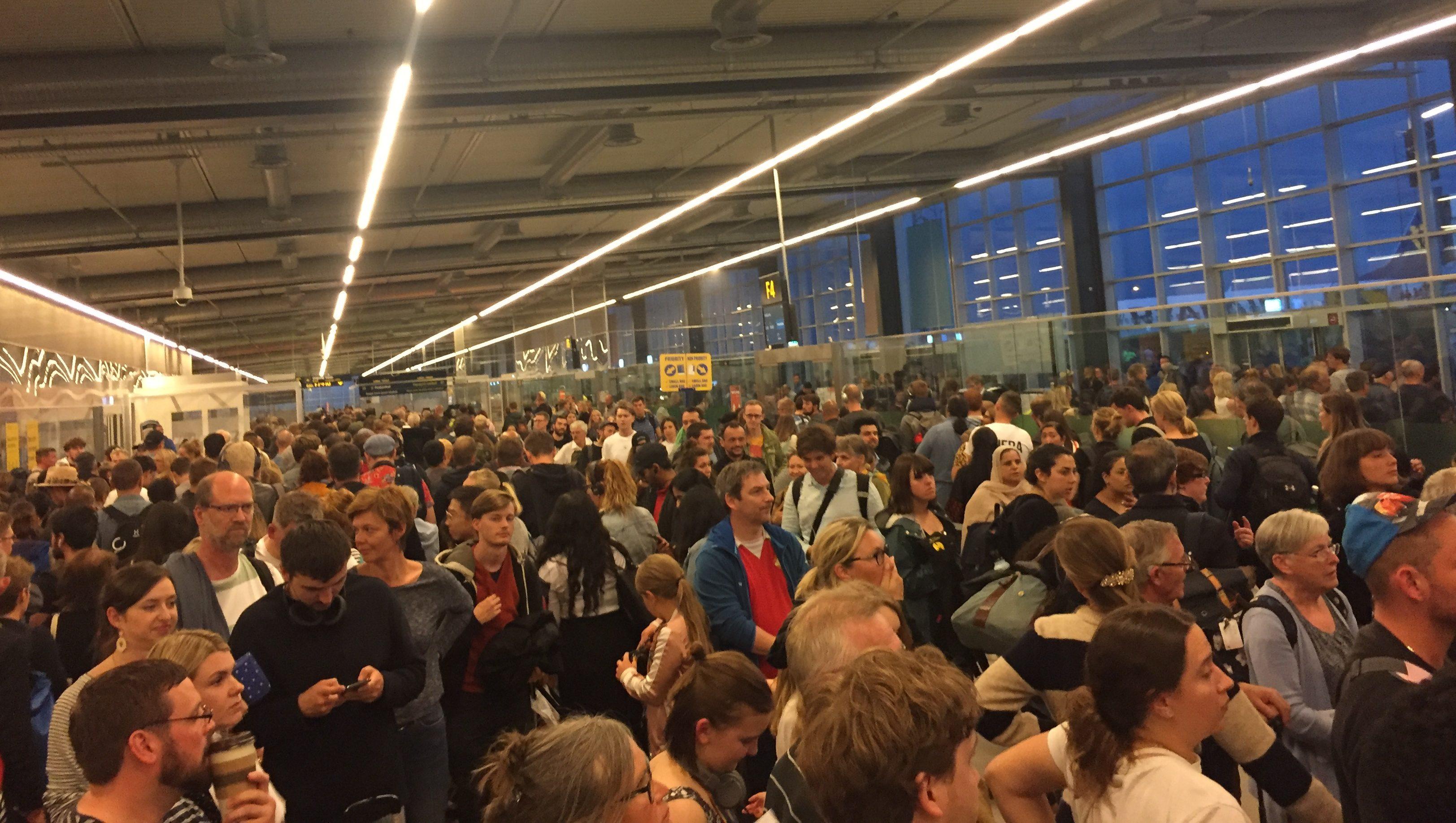 Kø i Københavns Lufthavn. Foto: Danny Longhi Andreasen