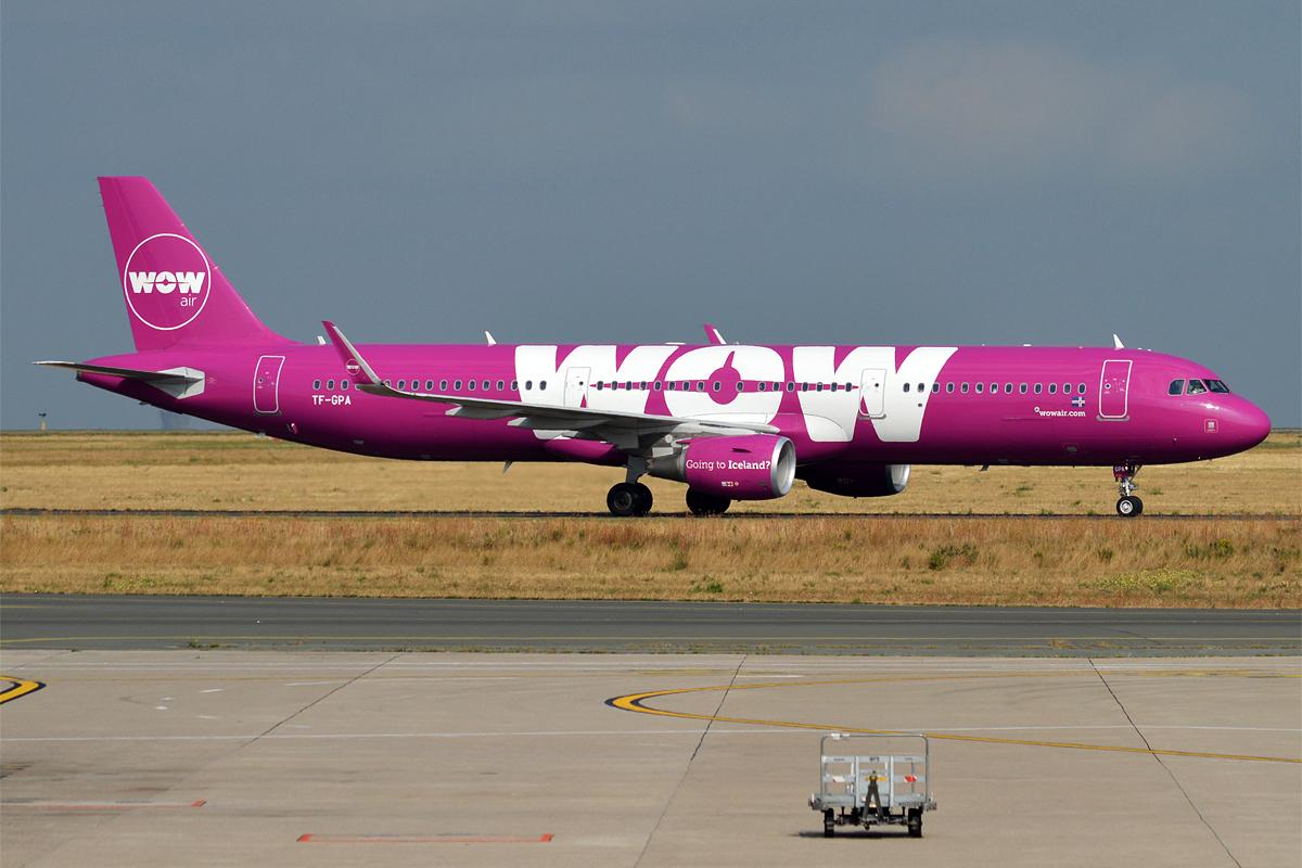 TF-GPA, Airbus A321-200 fra WOW air. (Foto: Anna Zvereva | CC 2.0)