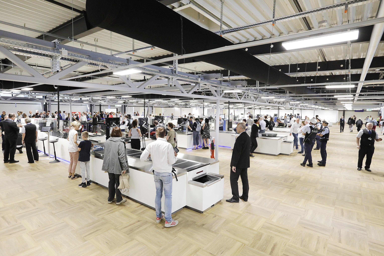 Nye spor i sikkerhedskontrollen i Concourse A i Frankfurt Lufthavn. Foto: Fraport