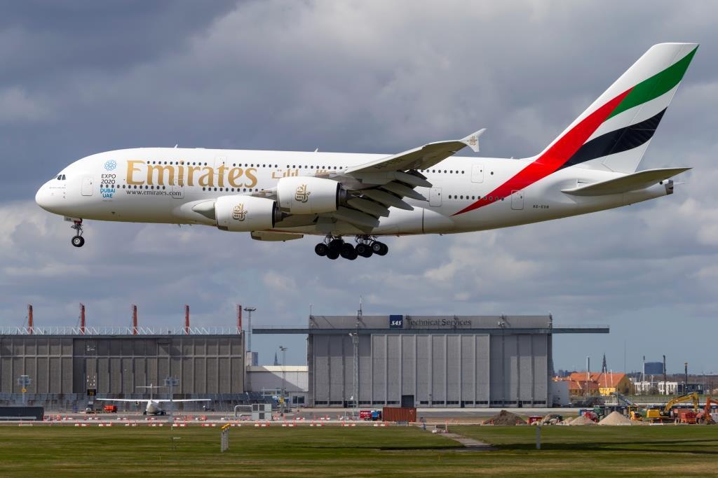Airbus A380 under landing i Københavns Lufthavn. (Foto: © Thorbjørn Brunander Sund | Danish Aviation Photo)