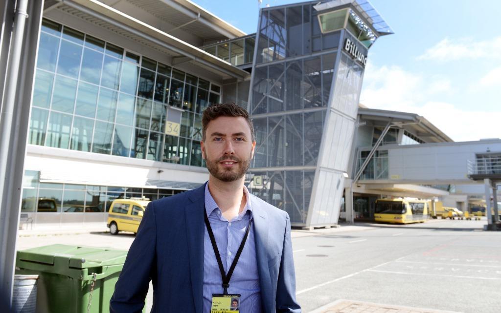 Marketingchef Jesper Klausholm fra Billund Lufthavn. (Foto: Joakim J. Hvistendahl)