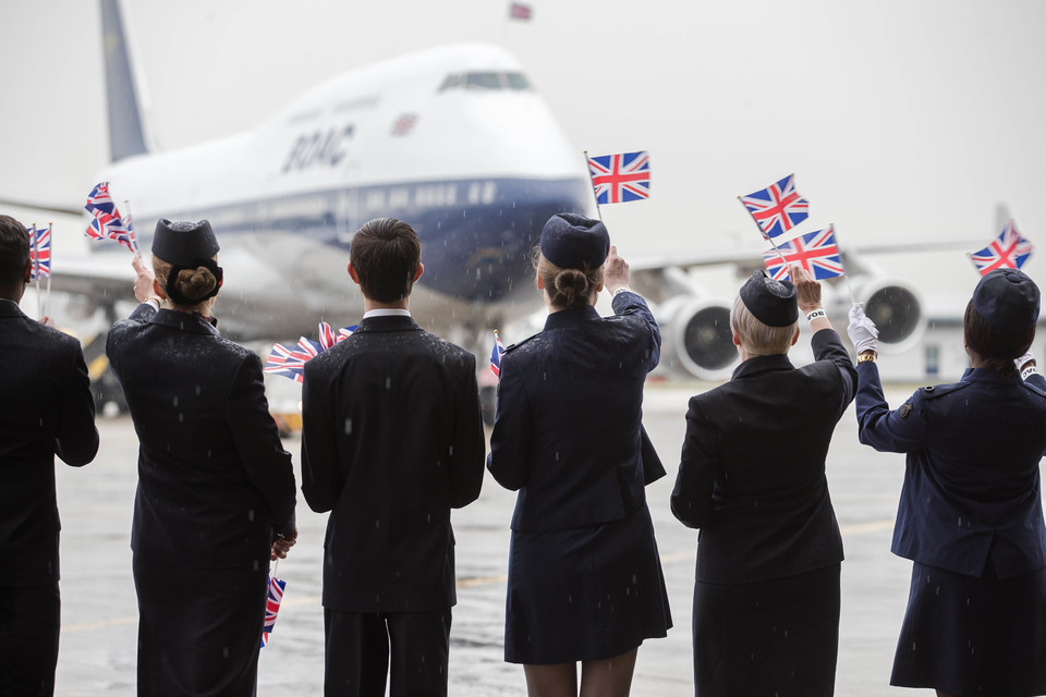 British Airways Boeing 747 i BOAC-design. (Foto: British Airways/PR)