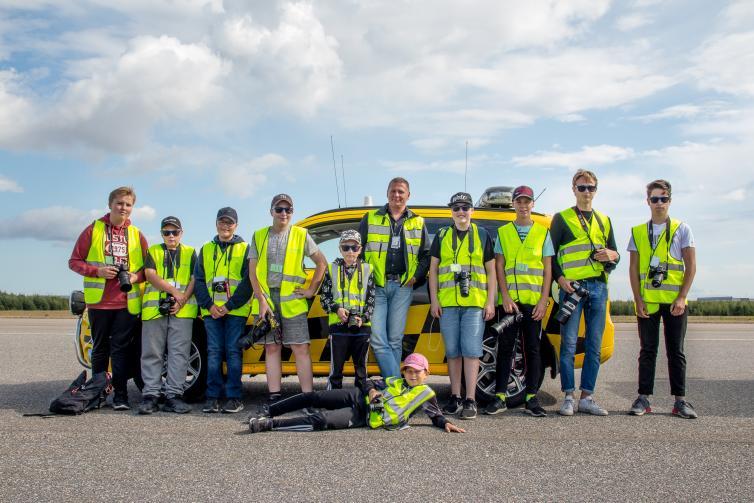 Finavia inviterede forleden en række flyspottere til rundvisning i Helsinki Lufthavn. Foto: Finavia