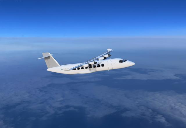 Visualisering af det kommende Heart ES-19 el-fly.