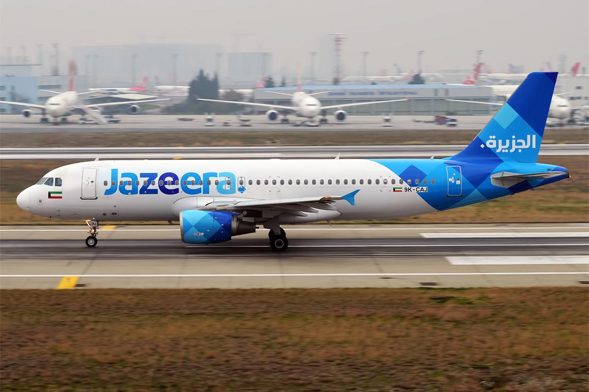 En Airbus A320-200 fra det kuwaitiske flyselskab Jazeera Airways. Foto: Anna Zvereva