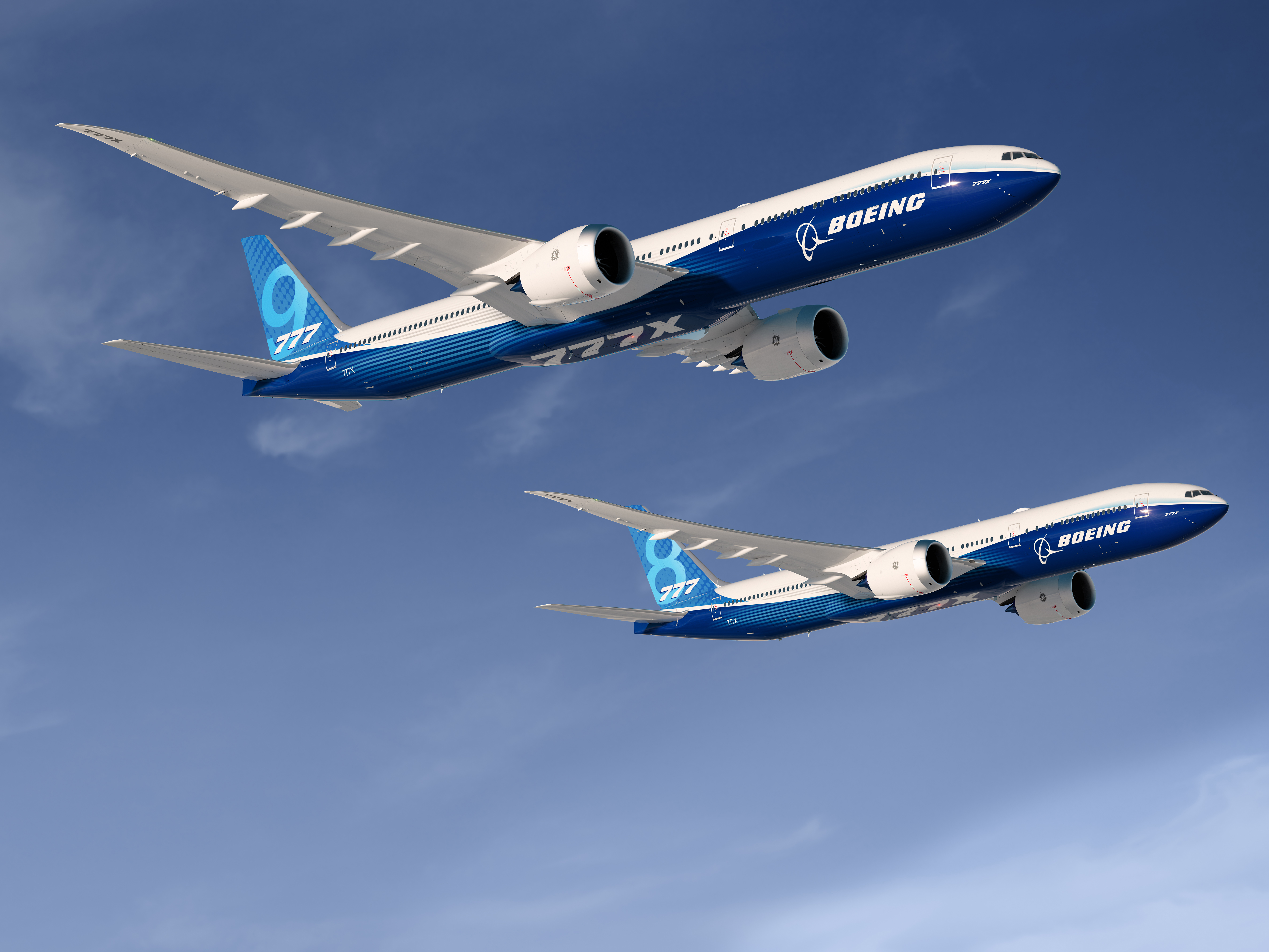 777-9 og 777-8 (Illustration: Boeing)