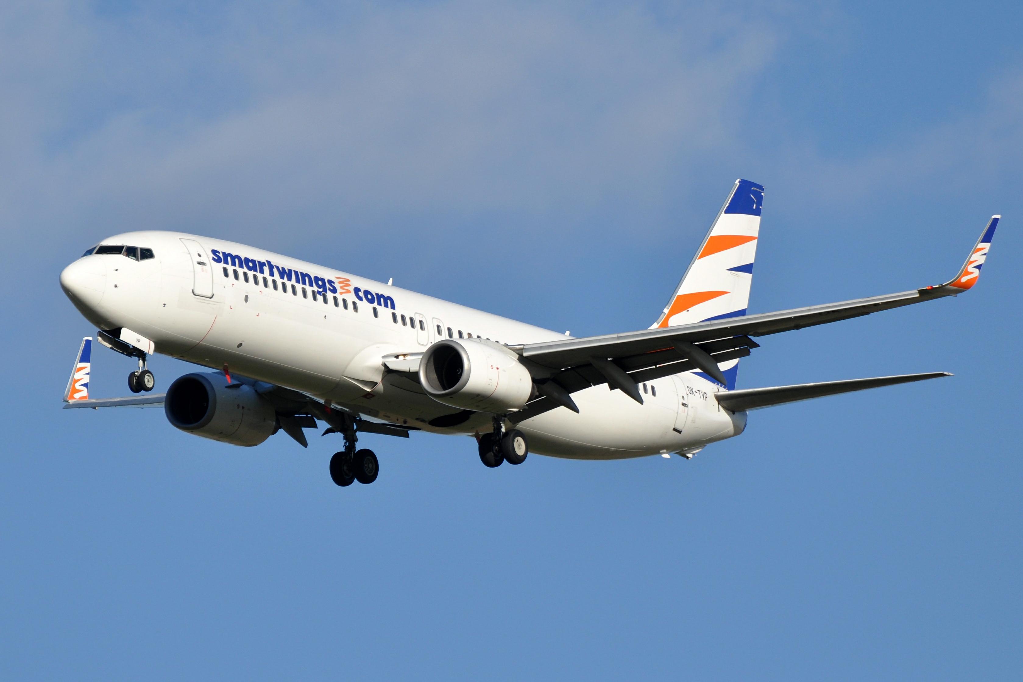 En Boeing 737-800 fra det tjekkiske flyselskab Smartwings. Foto: Eric Salard