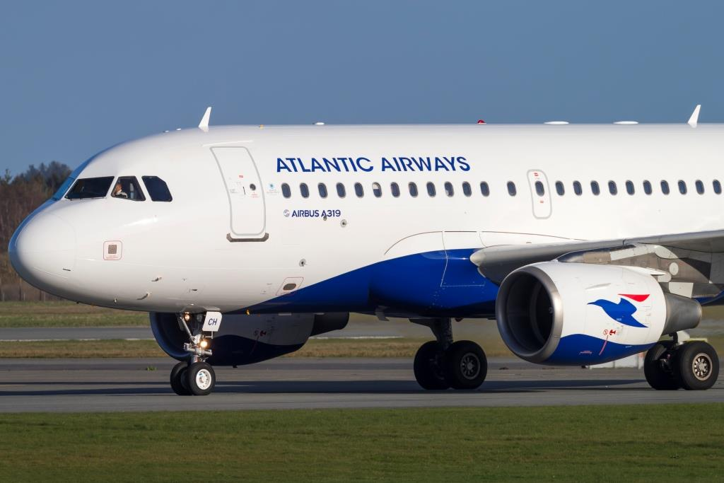Airbus A319 fra Atlantic Airways i Billund Lufthavn. (Foto: © Thorbjørn Brunander Sund, Danish Aviation Photo)
