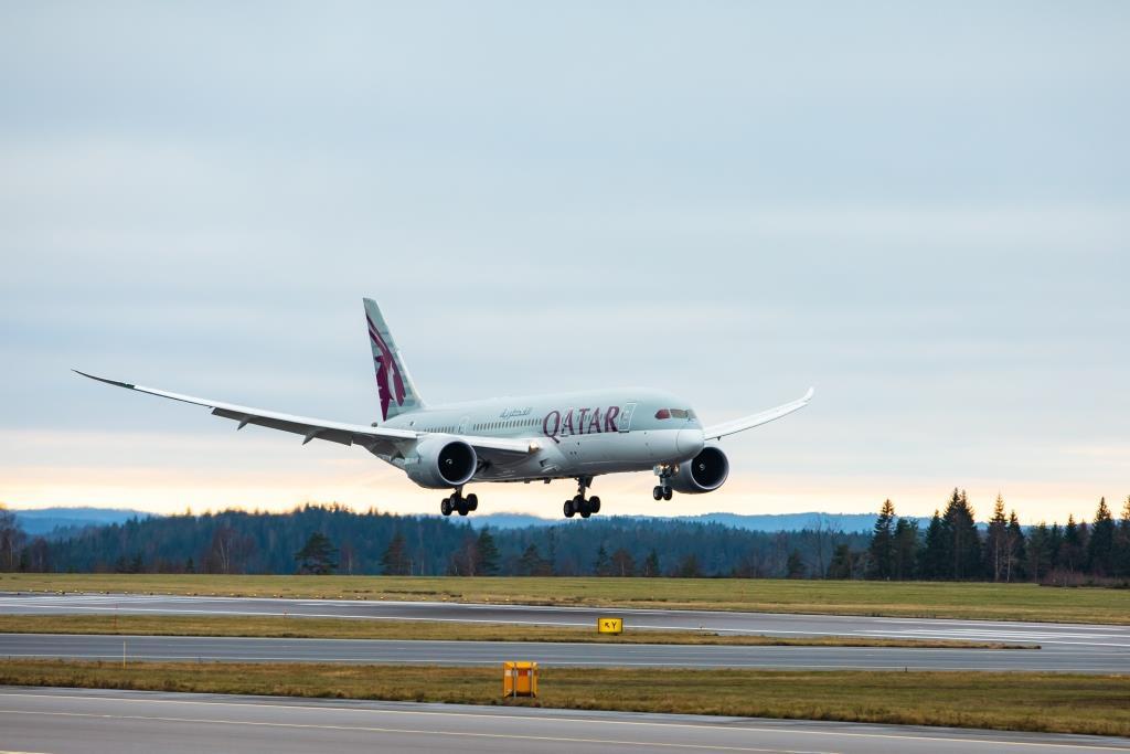 Boeing 787-8 Dreamliner fra Qatar Airways i Gøteborg Landvetter Airport. (Foto: Qatar Airways/PR)