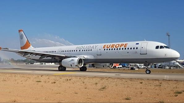 Det nye bulgarske charterflyselskab Holiday Europe råder indtil videre over én Airbus A321-200. Foto: Holiday Europe