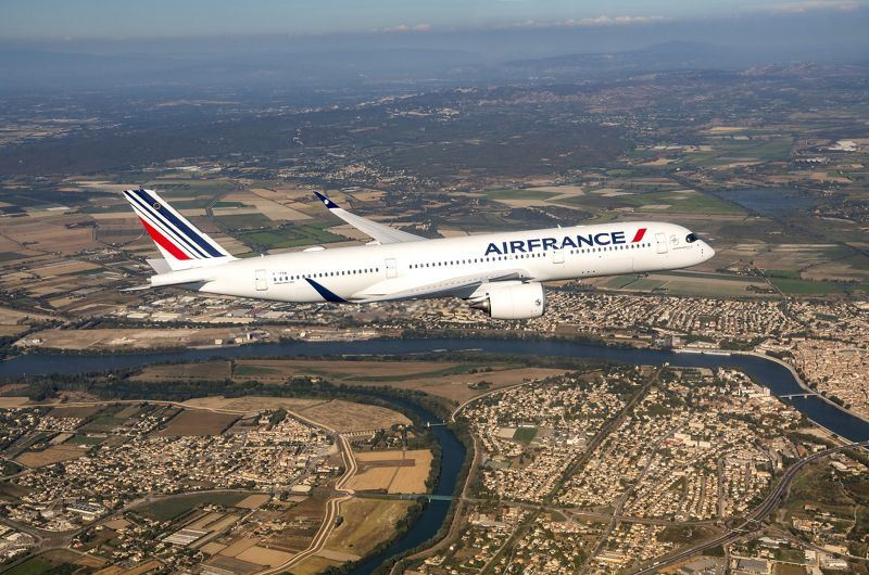 Første Airbus A350-900 XWB til Air France har fået navnet Toulouse. (Foto: Airbus – P. MASCLET´| master films)
