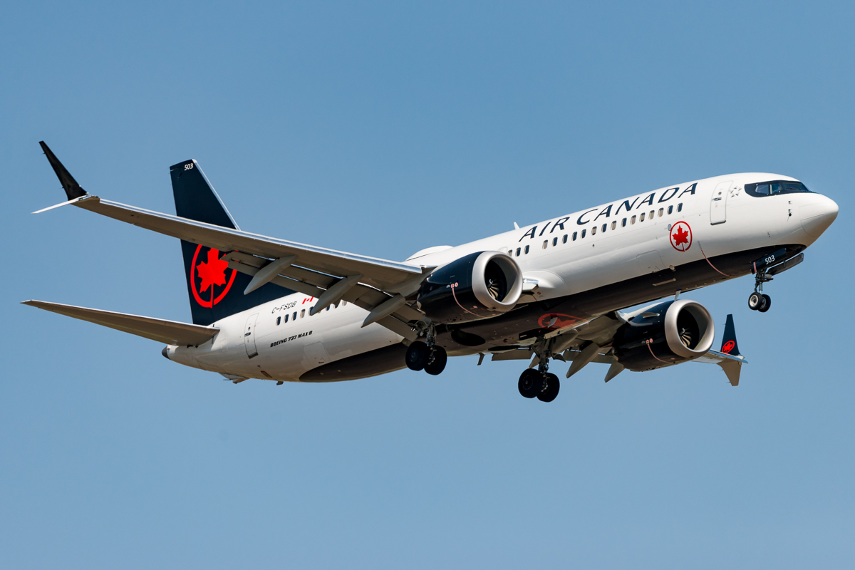 En Boeing 737 MAX 8 fra Air Canada. Foto: Acefitt, CC 4.0