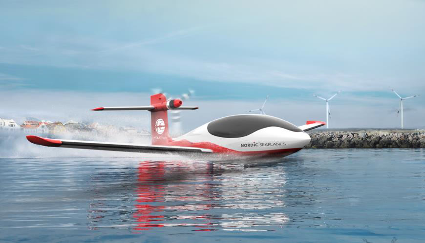 Equator Aircrafts P2 Xcursion, er et hybrid-elektrisk fly (Illustration: Nordic Seaplanes / PR)