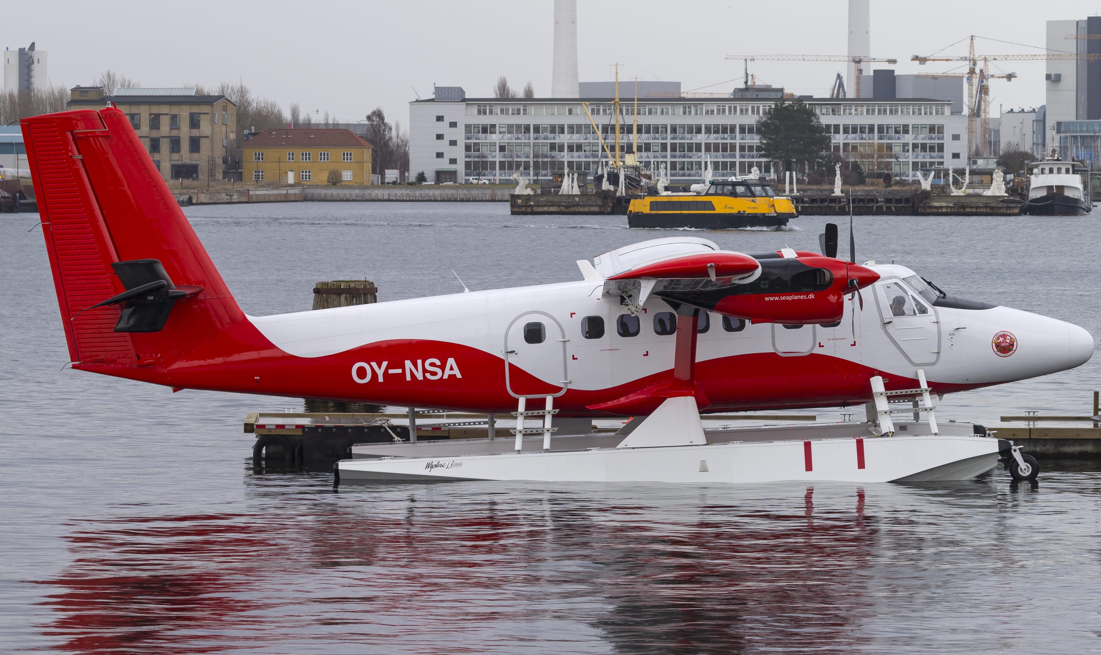 Twin Otter-vandflyet – OY-NSA – fra Nordic Seaplanes i Københavns Havn. Foto: © Thorbjørn Brunander Sund, Danish Aviation Photo