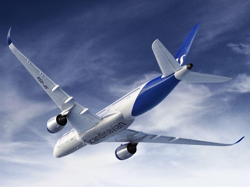 SAS A350 i ny bemaling. (Foto: SAS AB)