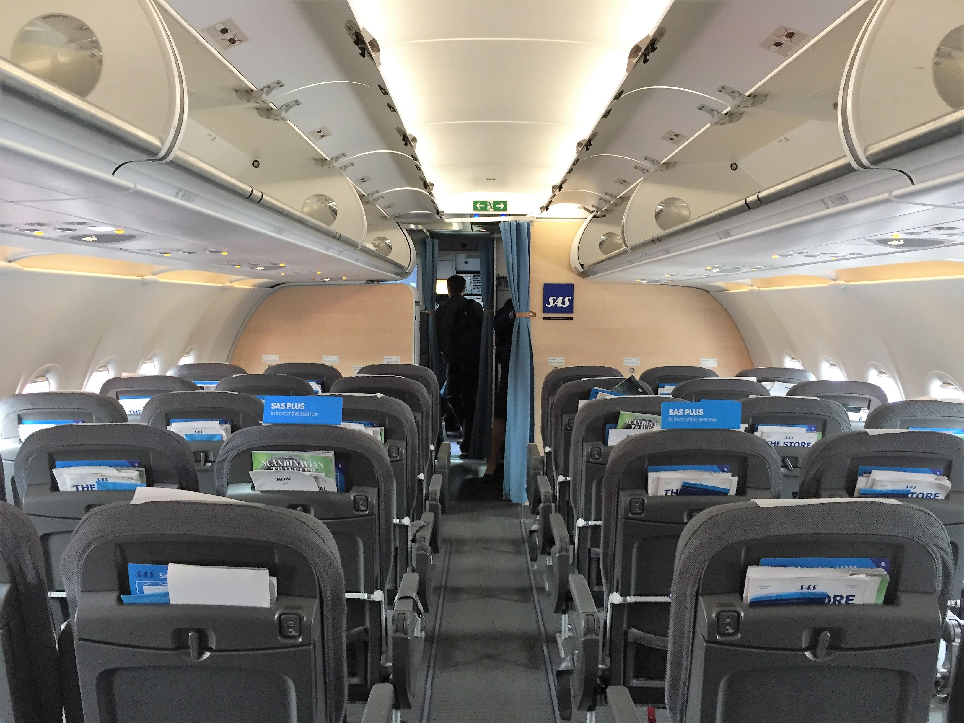 Kabine i SAS A320-200neo.