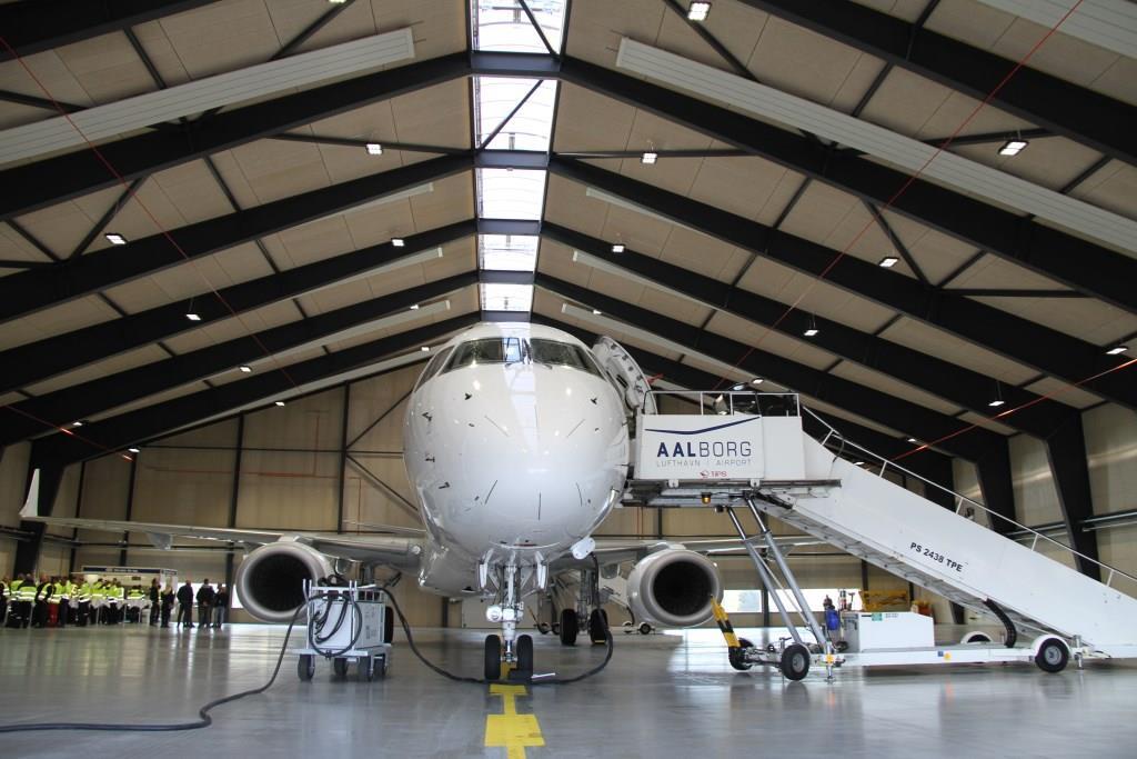 Ny flyhangar i Aalborg Lufthavn. (Foto: Aalborg Lufthavn | PR)