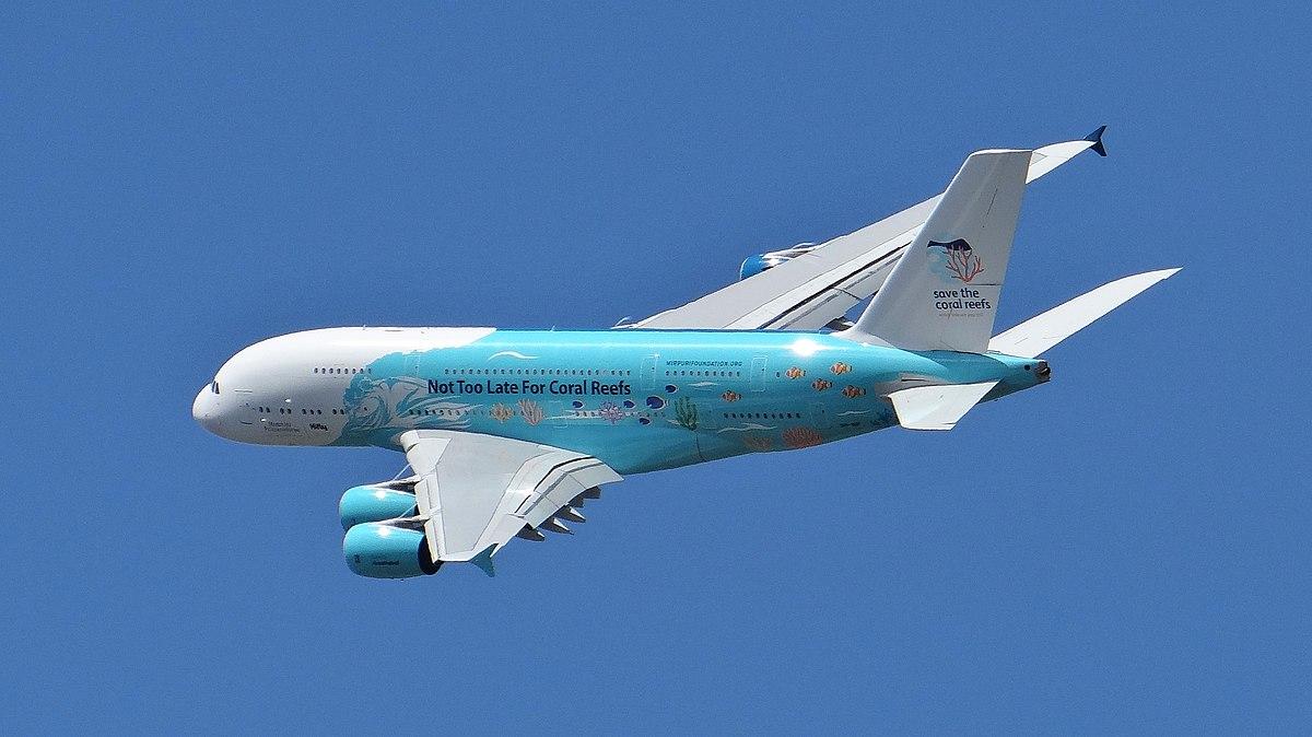 Airbus A380 fra HiFly. (Foto: Ibex73 | CC 4.0)