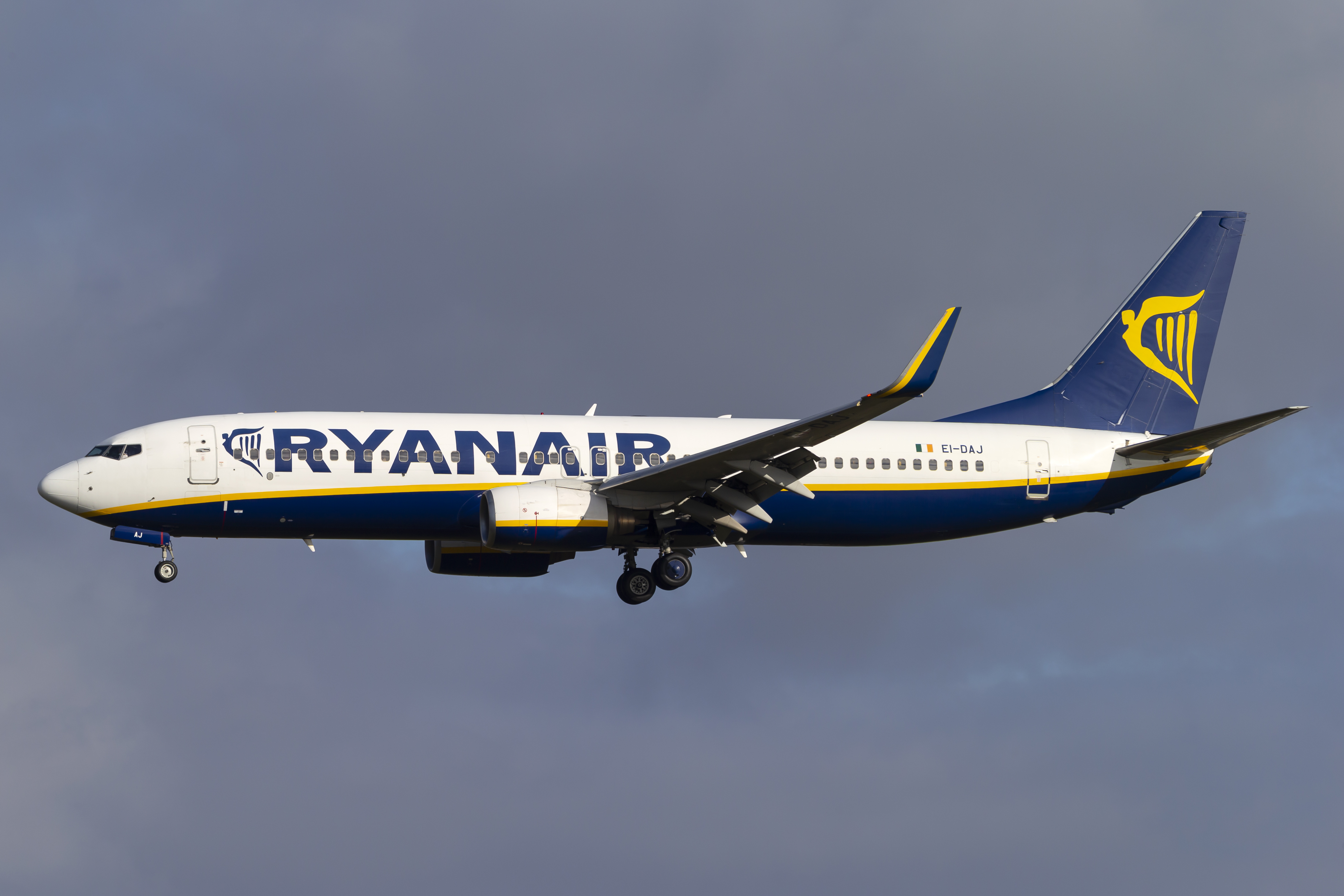 En Boeing 737-800 fra det irske lavprisflyselskab Ryanair. Foto: © Thorbjørn Brunander Sund, Danish Aviation Photo