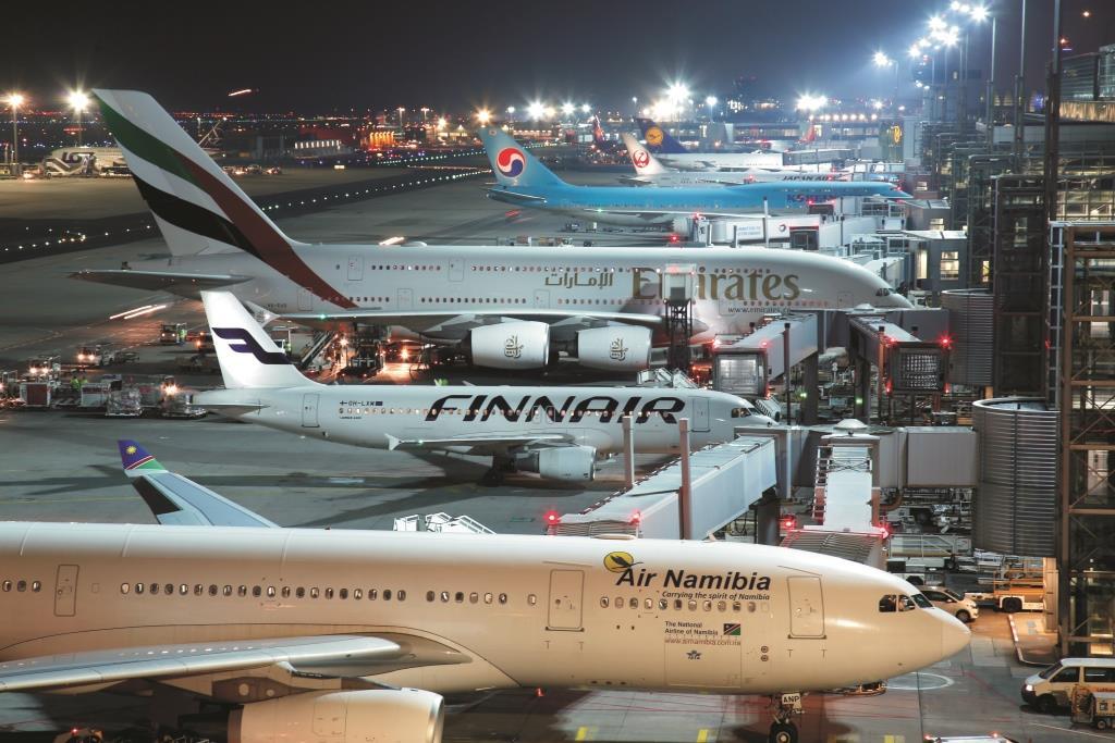 Fly på rad og række i Terminal 2 i Frankfurt Lufthavn. (Foto: Fraport | PR)