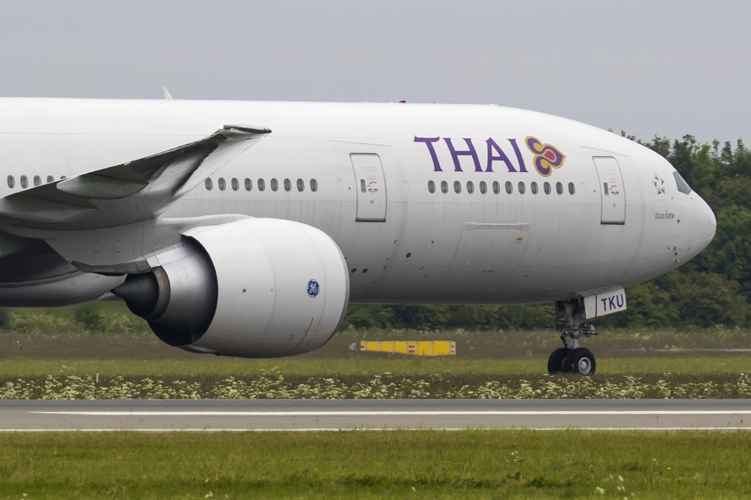 En Boeing 777-300ER fra Thai Airways. Foto: © Thorbjørn Brunander Sund, Danish Aviation Photo