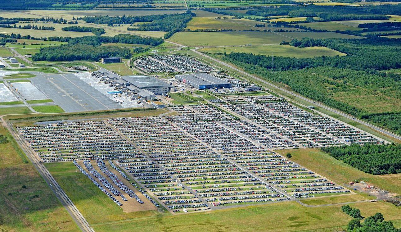 Billund Lufthavn har Danmarks største parkeringsplads. (Foto: Billund Lufthavn)