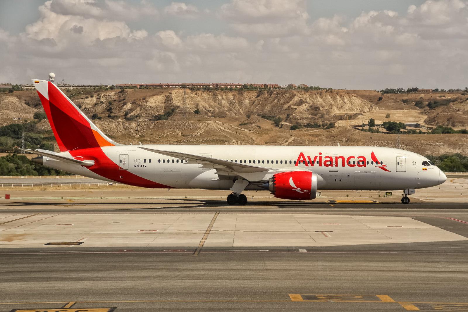 En Boeing 787-8 Dreamliner fra det colombianske flyselskab Avianca. Foto: Oliver Holzbauer, CC 2.0