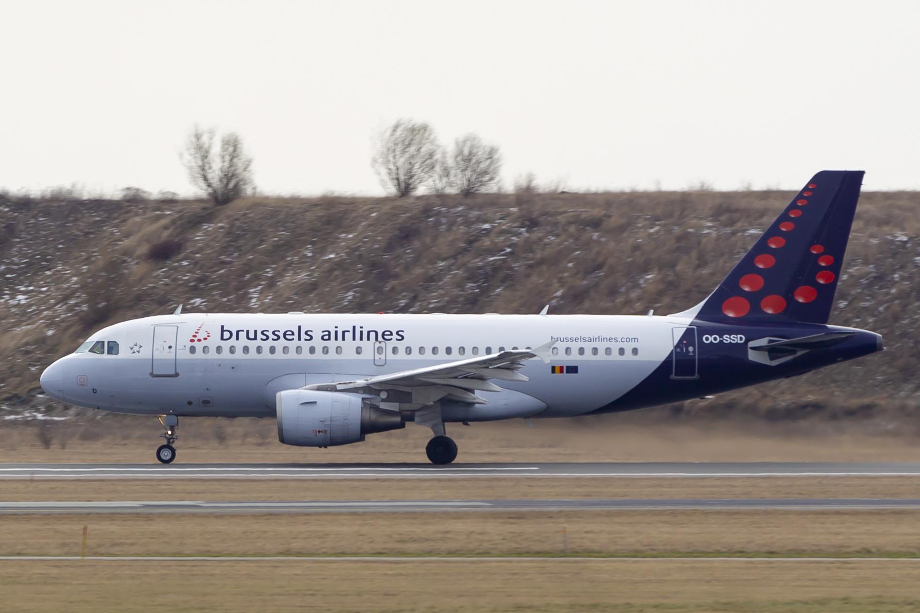 En Airbus A319-100 fra Brussels Airlines. (Foto: © Thorbjørn Brunander Sund, Danish Aviation Photo)
