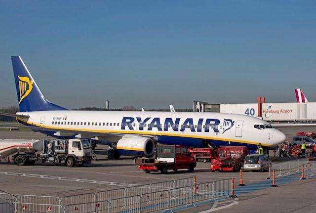 Ryanair-fly i Hamborg Lufthavn. (Foto: Hamborg Lufthavn)