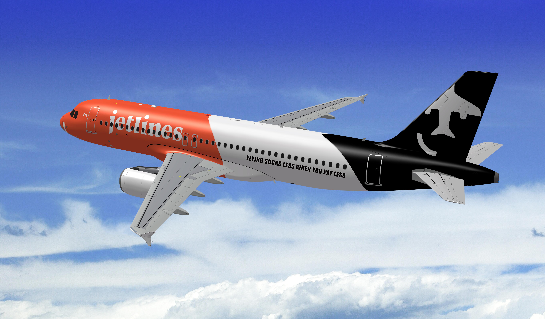 Sådan vil Airbus A320 hos det nye lavprisflyselskab Canada Jetlines komme til at se ud. Foto: Canada Jetlines