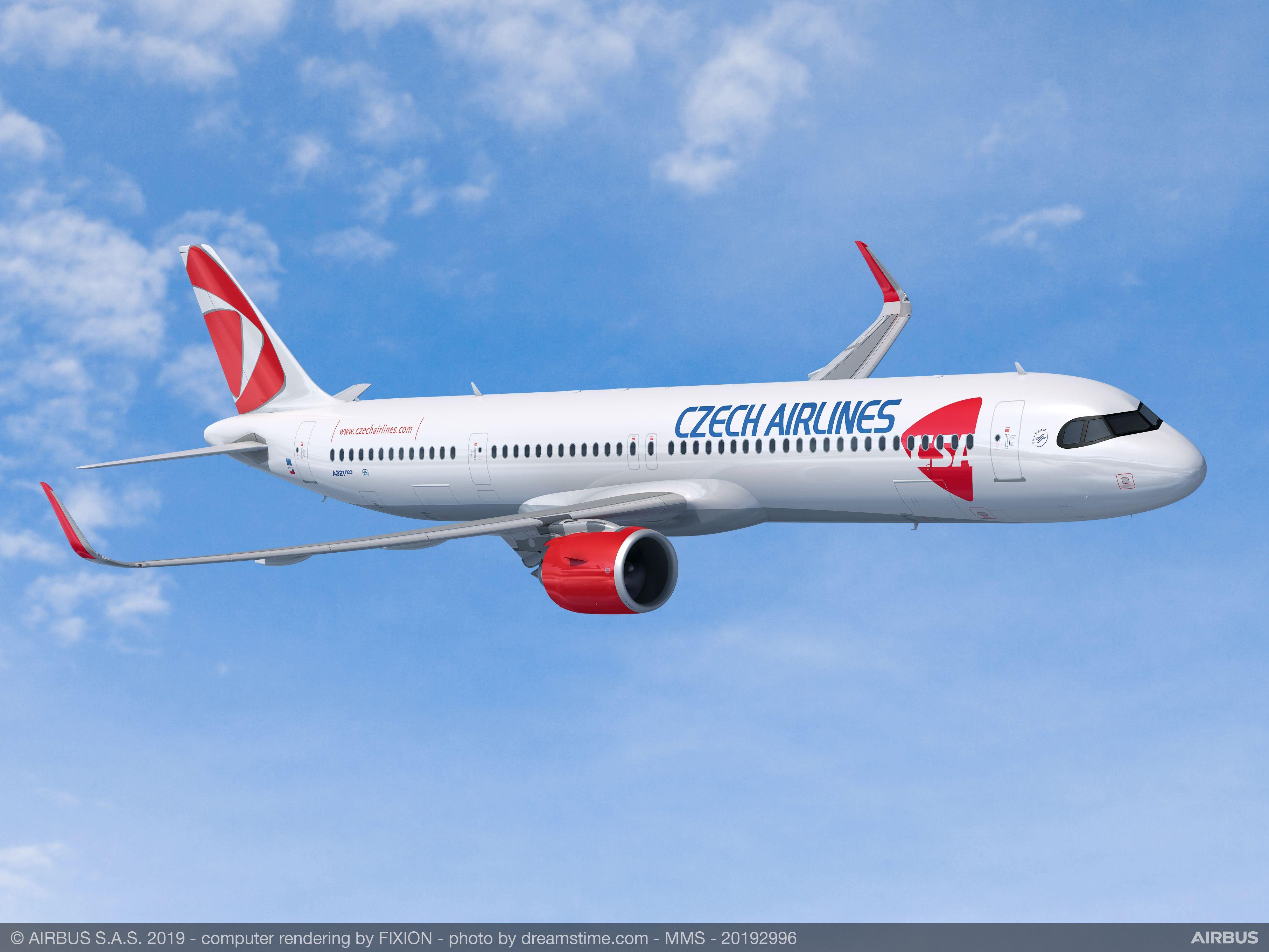 Czech Airlines har konverteret eksisterende ordre til tre nye Airbus A321XLR. Foto: Airbus