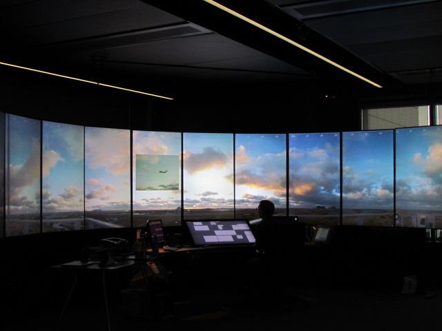 Den første fjernstyrede flyvning håndteret fra Remote Tower Centre i Bodø Lufthavn. Foto: Avinor