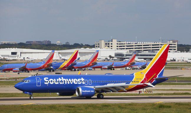 En Boeing 737 MAX 8 fra det amerikanske flyselskab Southwest Airlines. Foto: Southwest Airlines