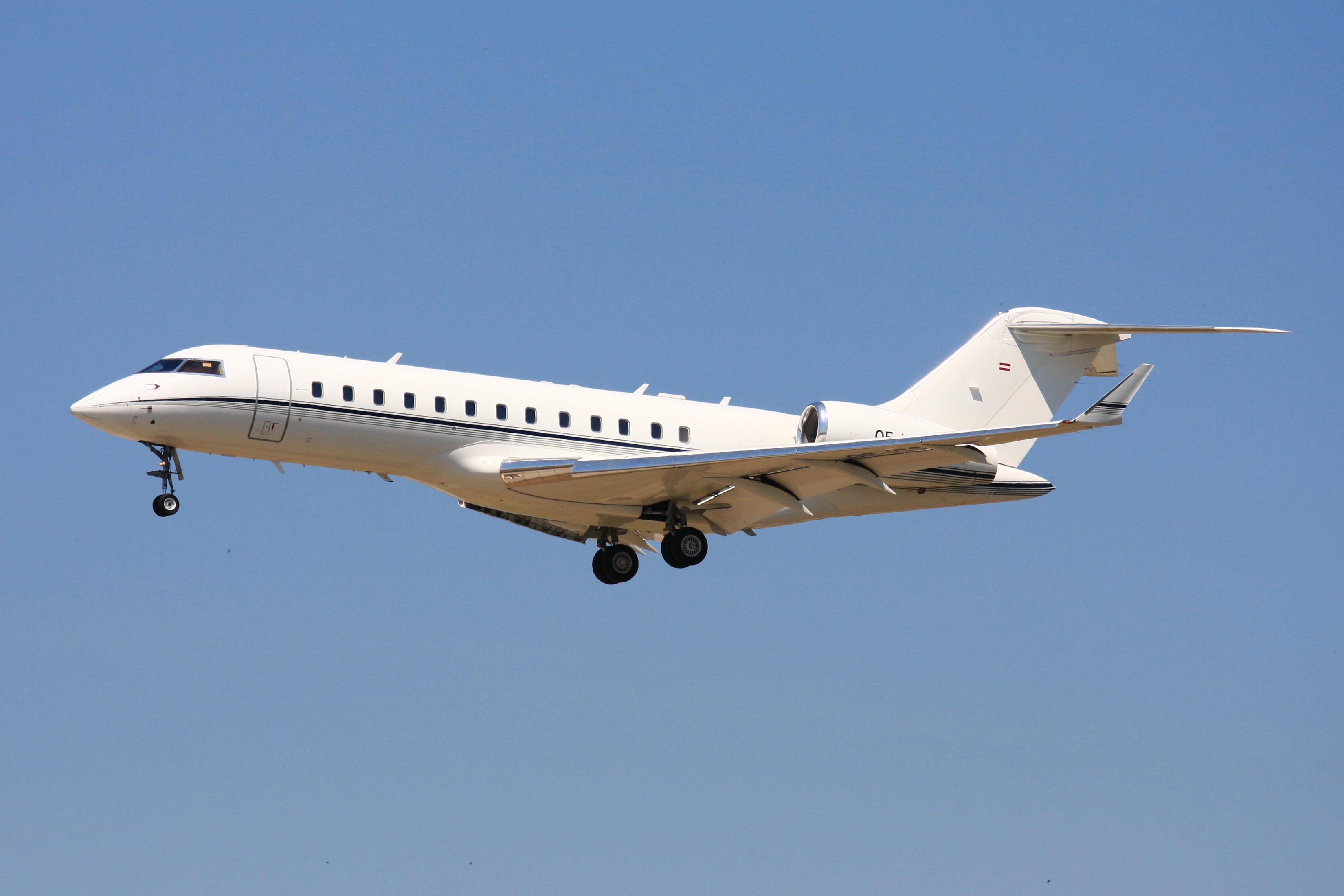 En Bombardier Global Express. Foto: Wo st 01, CC 3.0