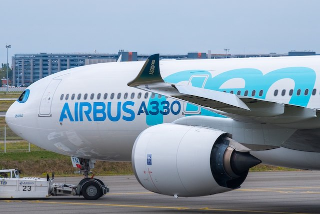 En Airbus A330neo med Trent 7000-motor fra Rolls Royce. Foto: Airbus