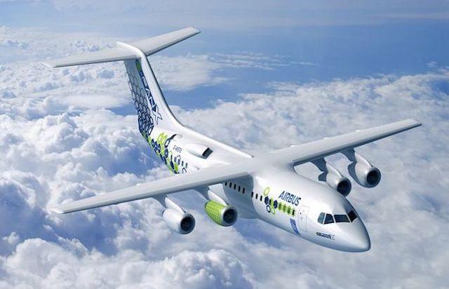 Hybridflyet E-Fan X fra Airbus skal flyve i 2021. Illustration: Airbus