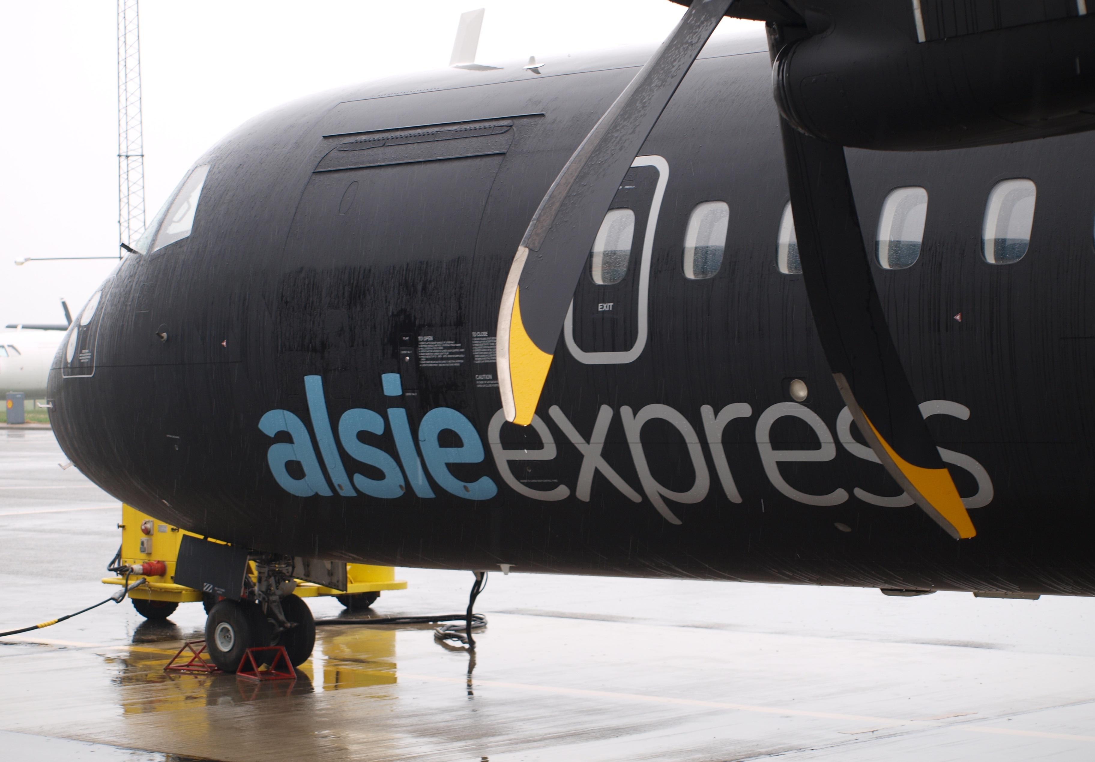 Alsie Express ATR 72-500 i Sønderborg Lufthavn. (Fotoi: Ole Kirchert Christensen)