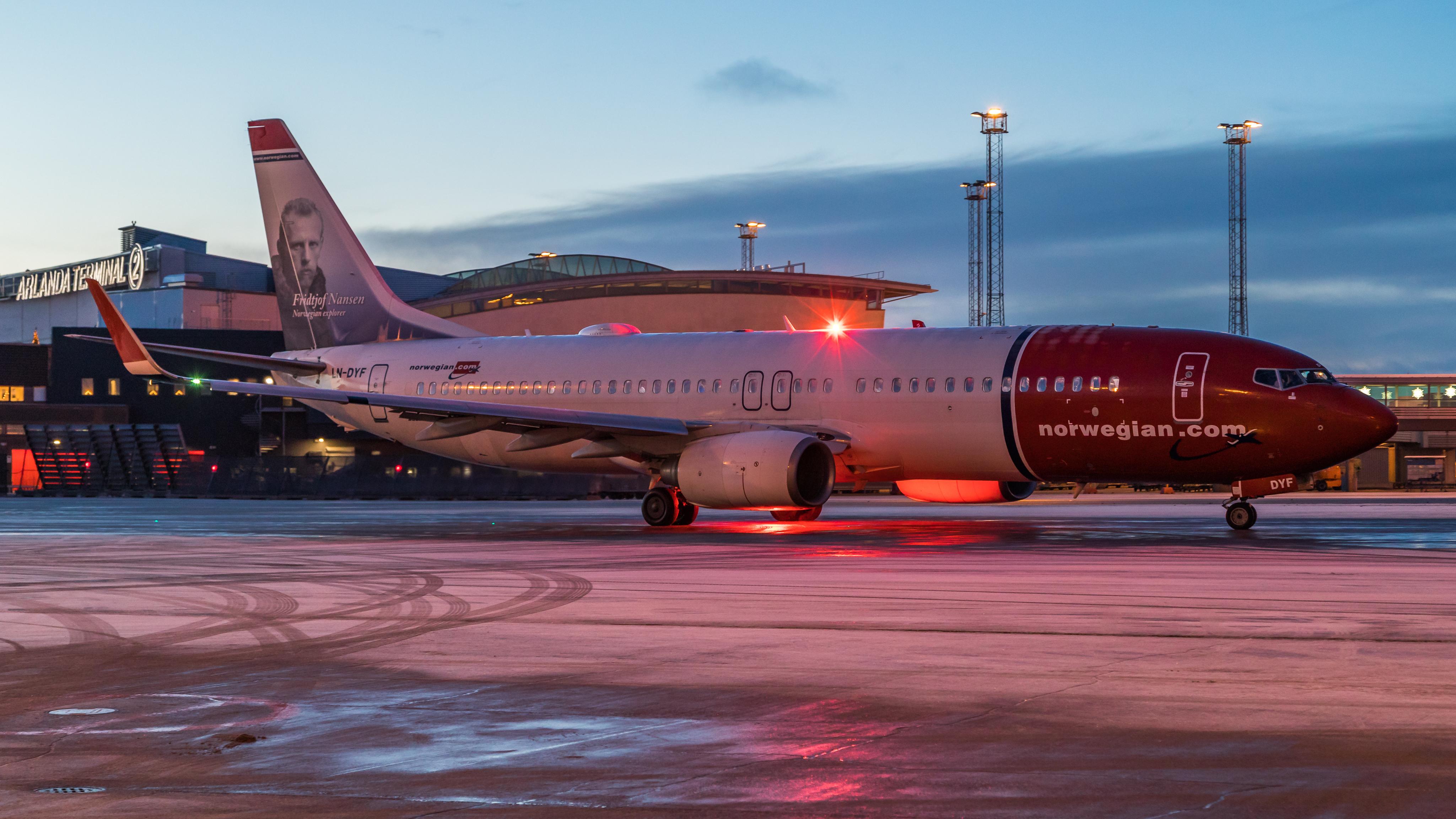 Boeing 737-800 fra Norwegian i Stockholm-Arlanda. (Foto: David Peacock | CC)
