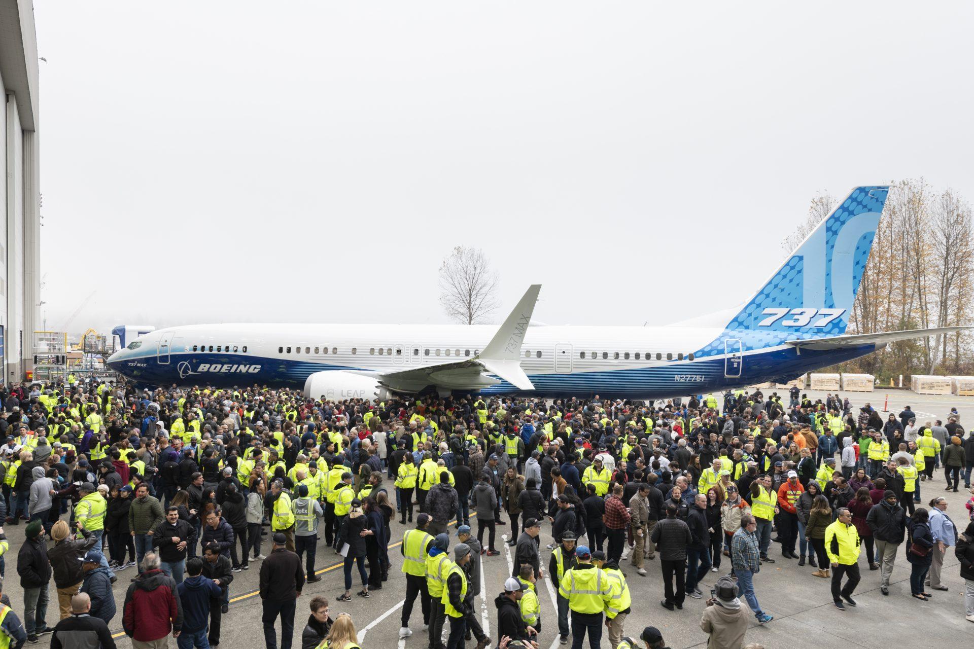 Boeing 737 MAX 10 ved præsentationen i Renton (Foto: Boeing | PR)