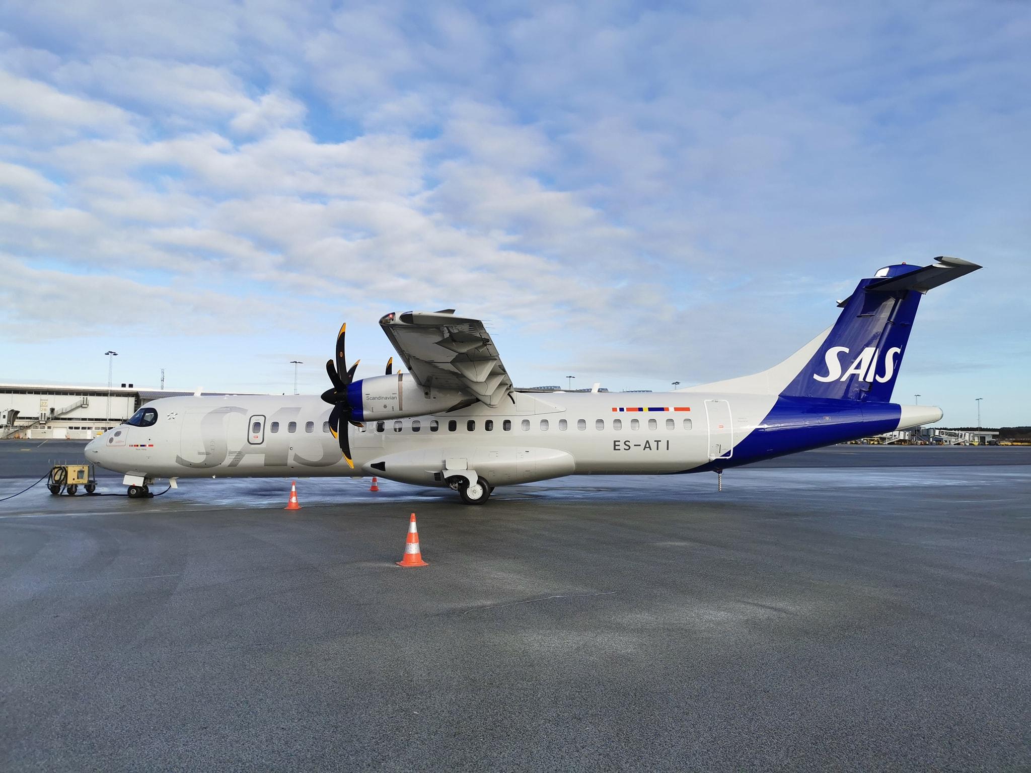 Første ATR 72 fra Regional Jet i nye SAS-bemaling. (Foto: Kim Wolff)