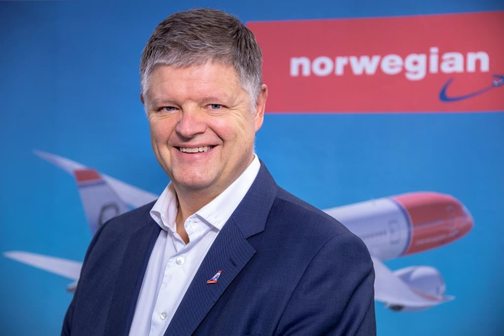 Jacob Schram, ny koncernchef i Norwegian. (Foto: Norwegian | PR)