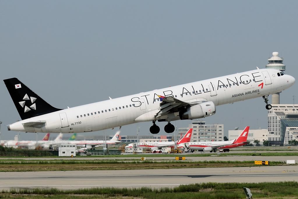Airbus A321-200 fra Asiana Airlines. (Foto: Shimin Gu | GNU 1.2)