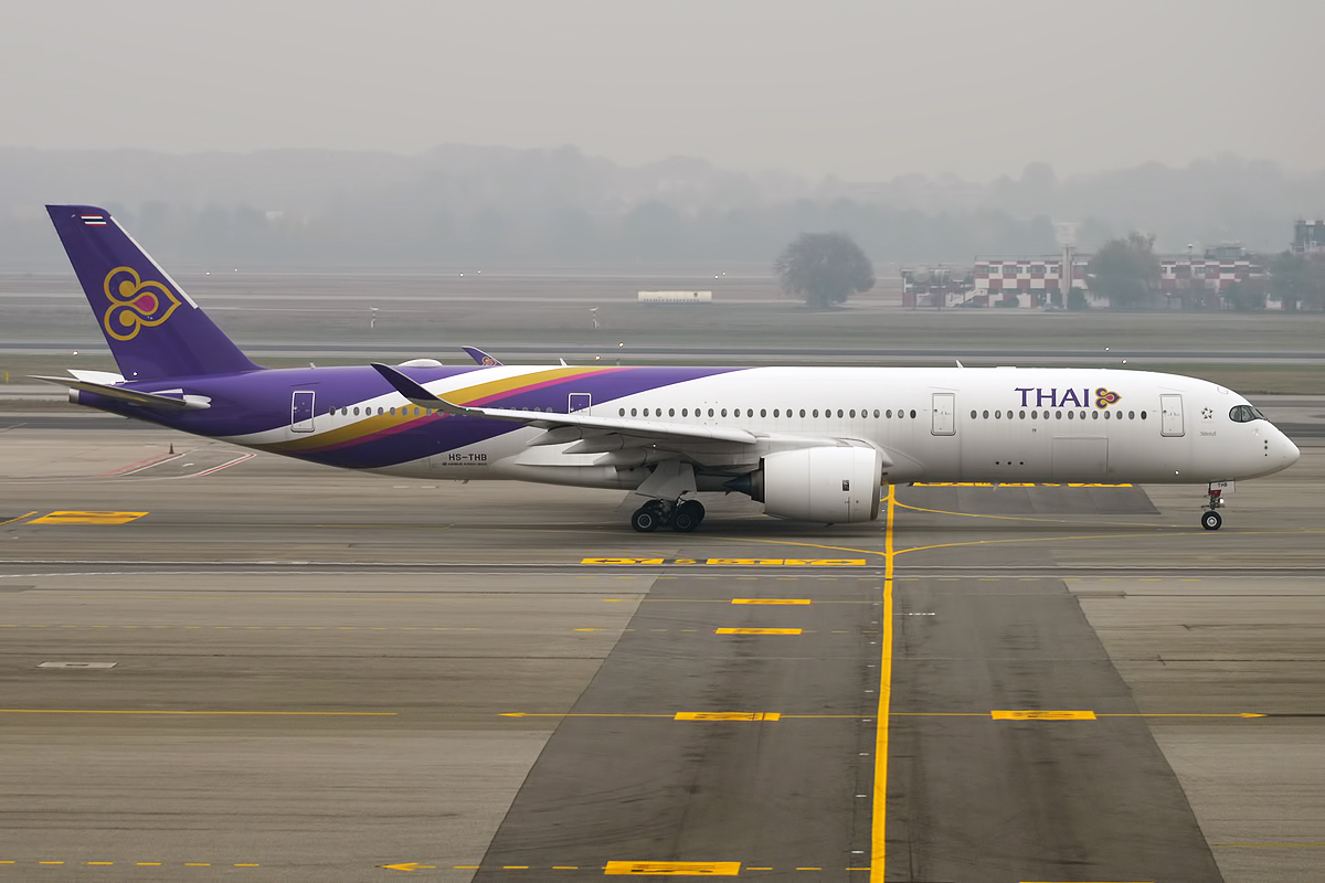 Airbus A350-900 XWB fra Thai Airways. (Foto: Anna Zvereva | CC 2.0)