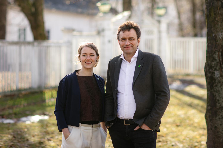 Une Aina Bastholm og Arild Hermstad er talspersoner for norske  Miljøpartiet De Grønne. Foto: Miljøpartiet De Grønne, CC 2.0