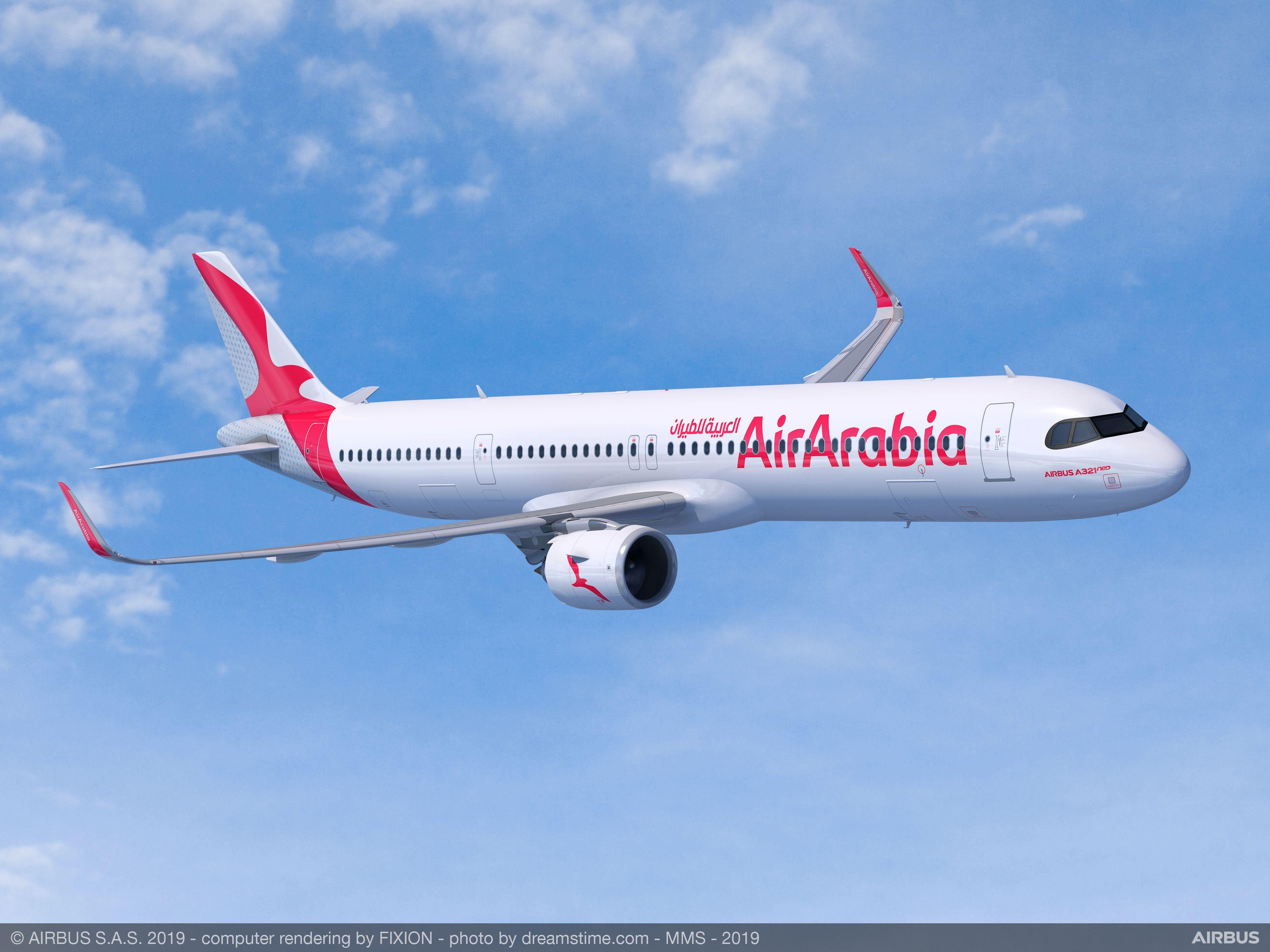 Det mellemøstlige lavprisflyselskab Air Arabia har blandt andet bestilt 20 Airbus A321XLR. Foto: Airbus