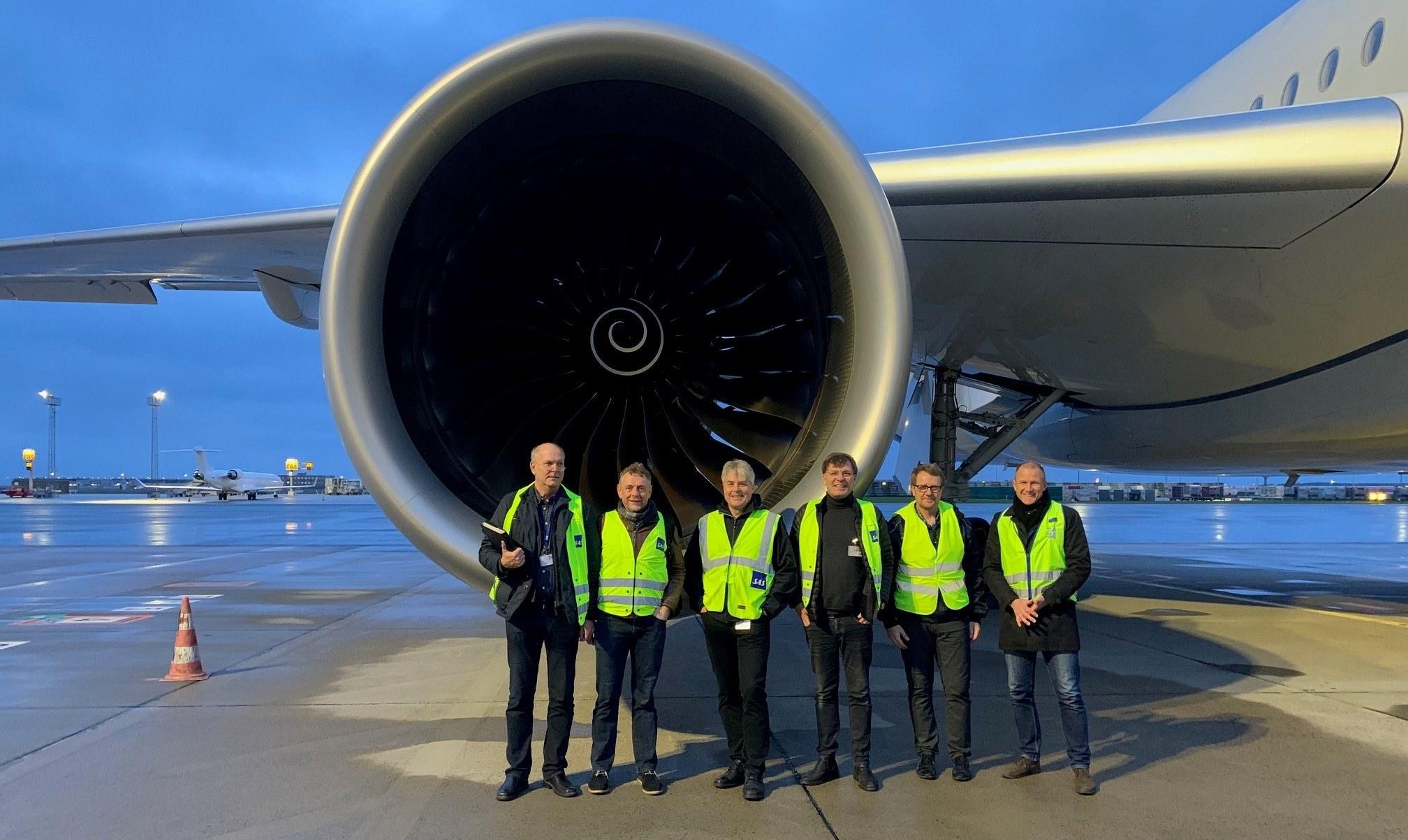 Et nyt hold piloter inden træningsflyvningen til Billund. (Privatfoto)