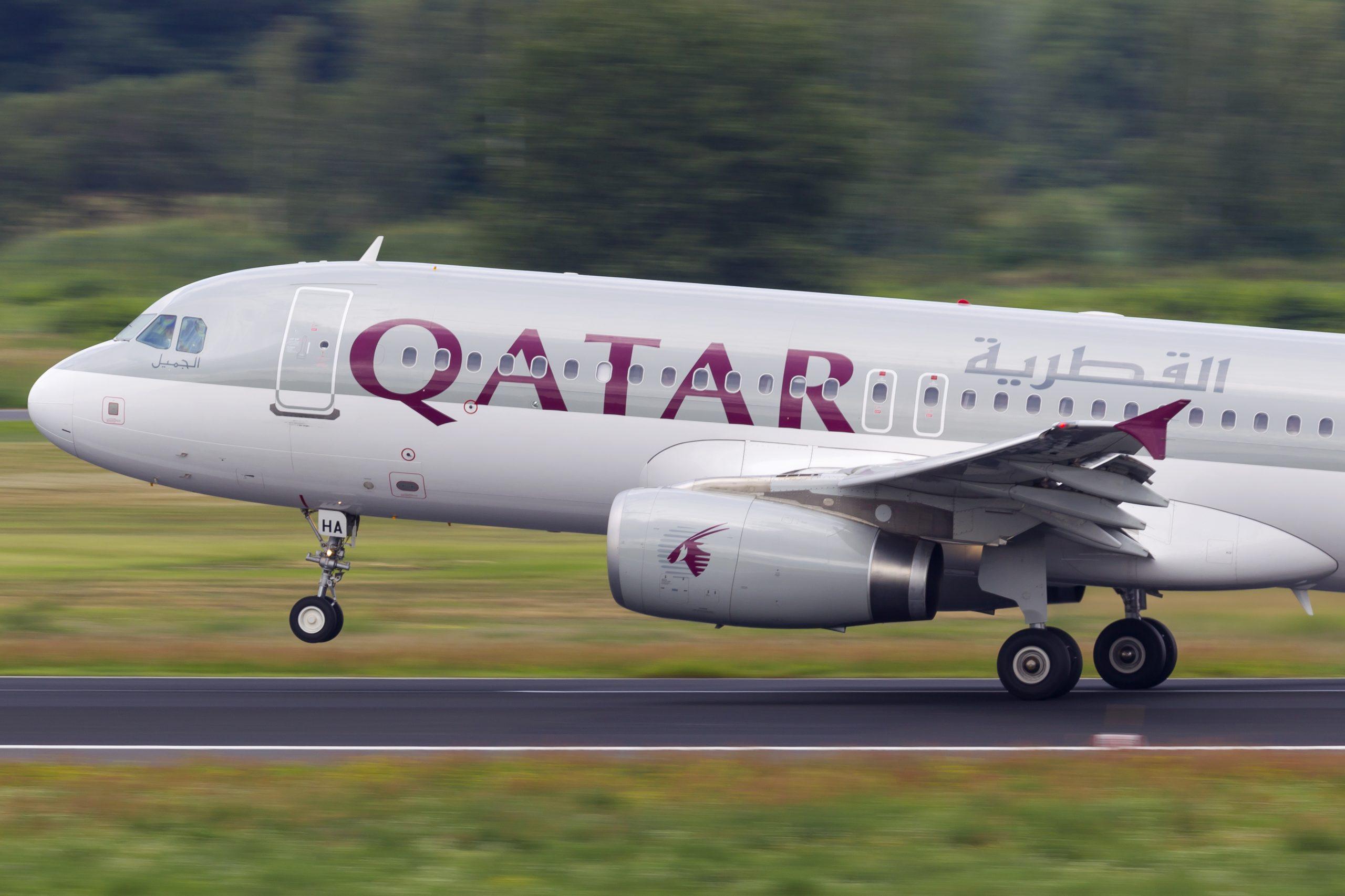 En Airbus A320-200 fra Qatar Airways. Foto: © Thorbjørn Brunander Sund, Danish Aviation Photo