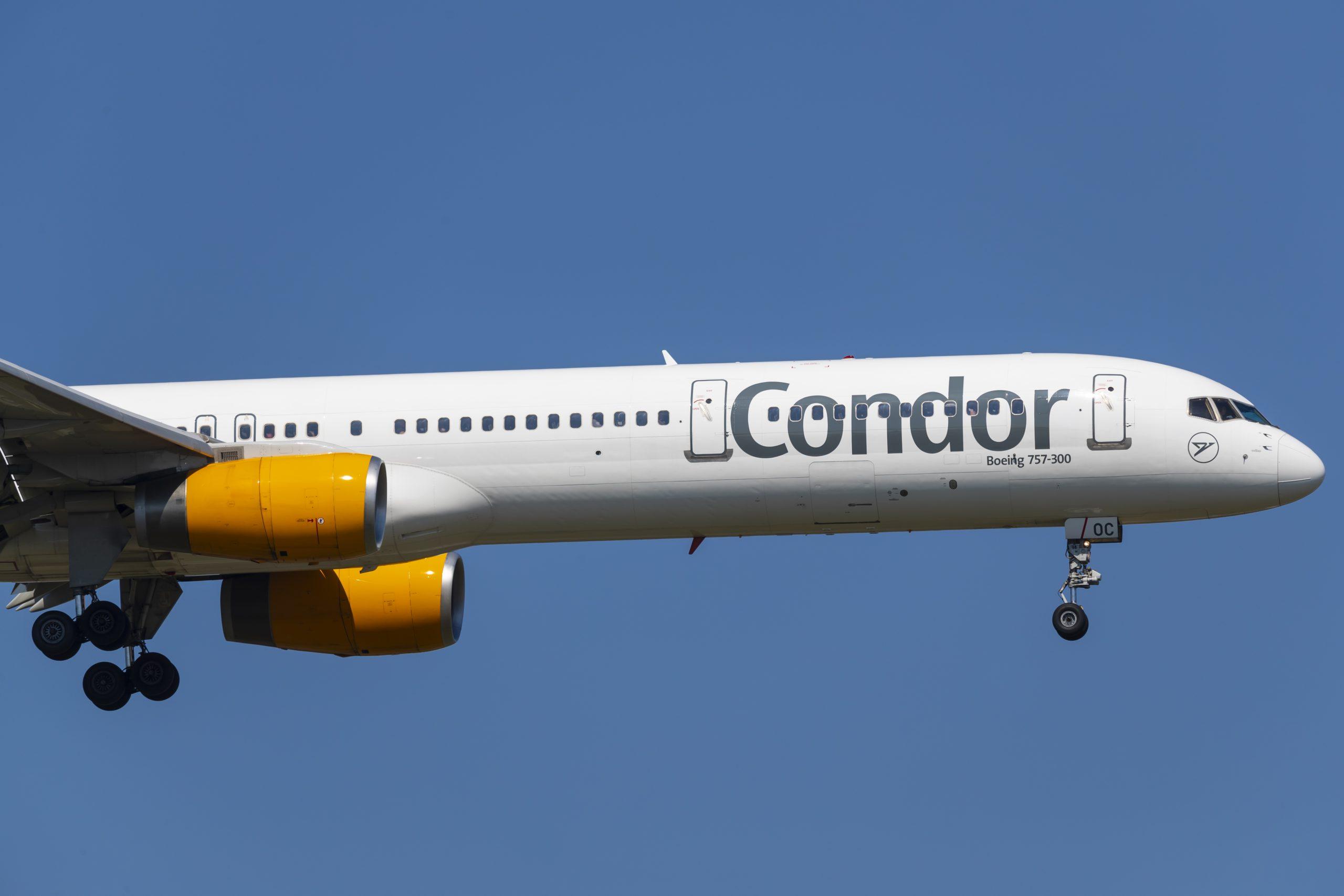En Boeing 757-300 fra det tyske flyselskab Condor. Foto: © Thorbjørn Brunander Sund, Danish Aviation Photo