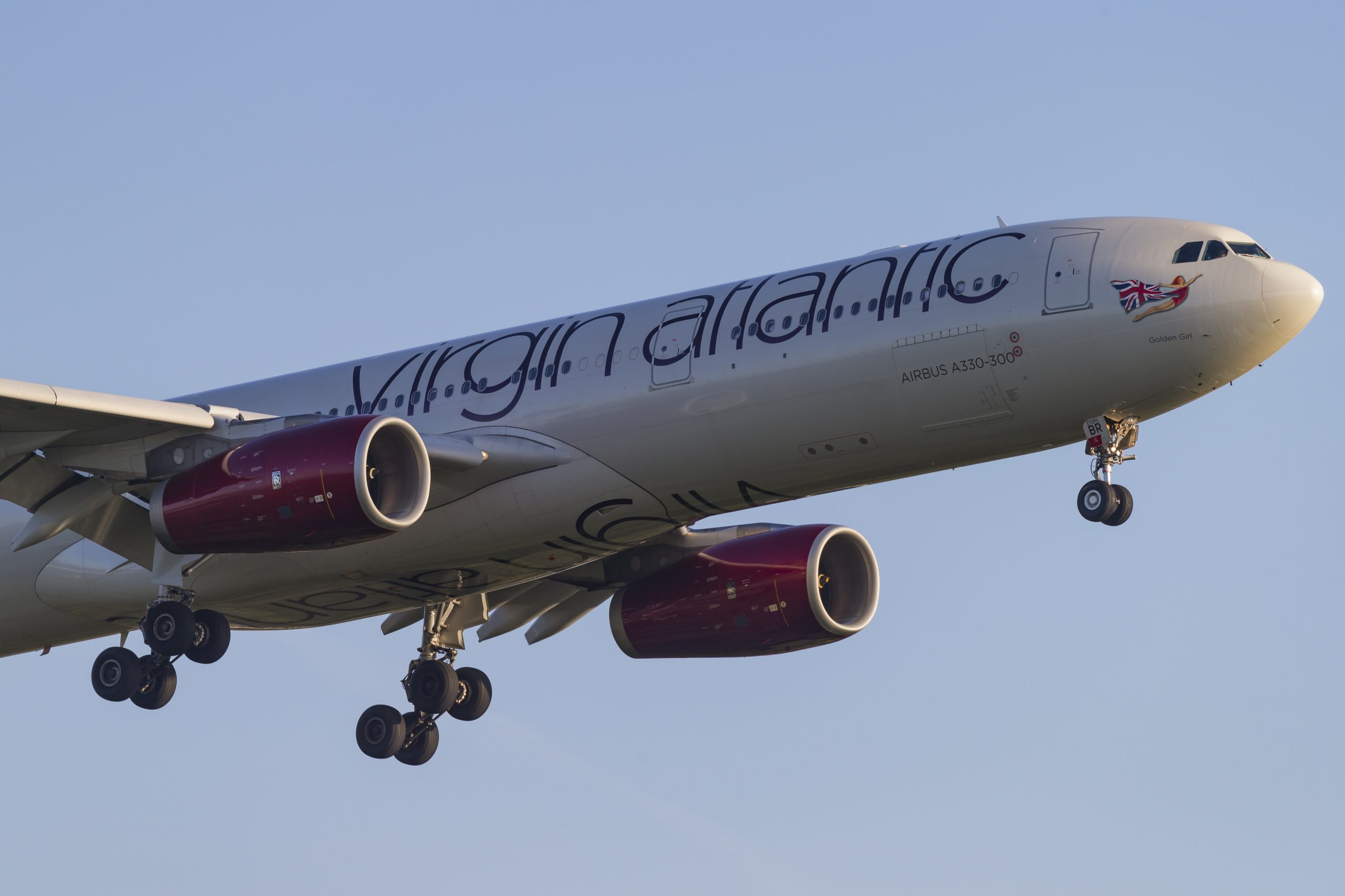 En Airbus A330-300 fra det britiske langdistanceflyselskab Virgin Atlantic. Foto: © Thorbjørn Brunander Sund, Danish Aviation Photo